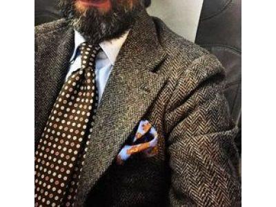 Лучшие галстуки для пиджака из твида.
