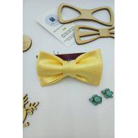 Галстук-бабочка желтая, детская Арт.0419