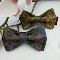 Галстук-бабочки синие с золотом Арт. 0403
