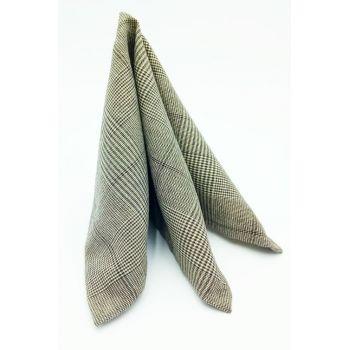 Нагрудный платок коричневый в клетку Арт. 00018