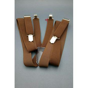 Подтяжки коричневые 2 см Арт.0285