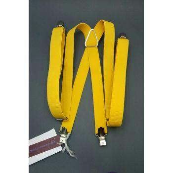 Подтяжки желтые 2 см Арт.0286