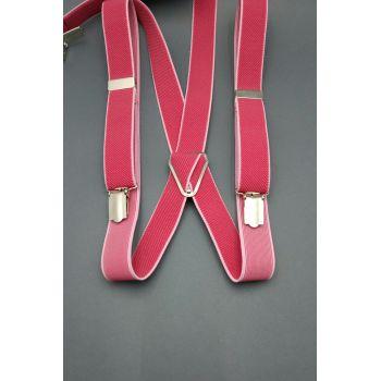 Подтяжки розовые с окантовкой 2 см Арт.0288
