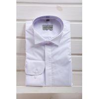 Рубашка мужская под бабочку, белая ТМ Limitlles Арт:5077