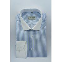 Мужская рубашка в полоску с длинным рукавом TM Limitless Арт.0187