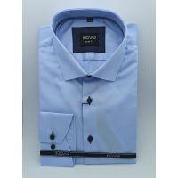 Мужская рубашка голубая ТМ Ingvar Арт.0189