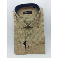 Мужская рубашка коричневая  ТМ Guzeppa Gentini Арт.0192