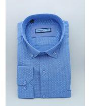 Мужская рубашка голубая с принтом TM Guzeppe Gentini Арт.0195