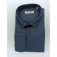 Мужская рубашка приталенная, графит TM Zermon Арт.0194