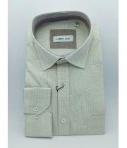 Мужская рубашка цвет айвори с принтом  ТМ Zermon Арт.0193