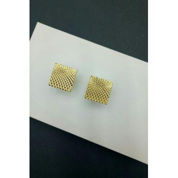 Запонки квадратные-золотистые Арт. ЕЕ117